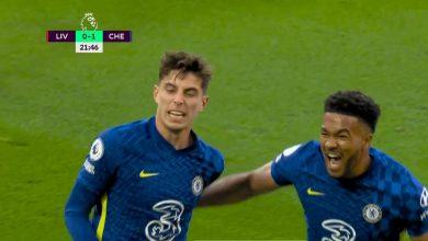 هدف تشيلسي الاول ضد ليفربول 1-0 الدوري الانجليزي