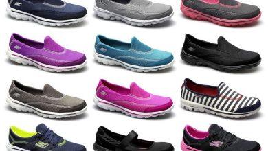 انواع احذية سكيتشرز رياضية للنساء
