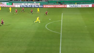 هاتريك هالاند في مباراة بوروسيا دورتموند وفيهين في كأس المانيا