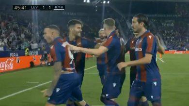 هدف ليفانتي الاول ضد ريال مدريد 1-1 الدوري الاسباني