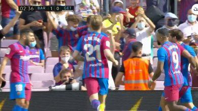هدف برشلونة الاول ضد خيتافي 1-0 الدوري الاسباني