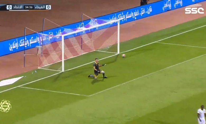 اهداف مباراة الفيحاء والاتحاد 1-0 الدوري السعودي