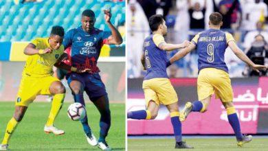حمد الله وتاوامبا يتنافسان على صدارة هدافي الدوري السعودي