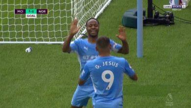 اهداف مانشستر سيتي ضد نوريتش سيتي 5-0 الدوري الانجليزي