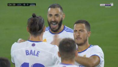 هدف ريال مدريد الاول ضد ليفانتي 1-0 الدوري الاسباني