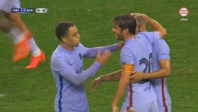 اهداف مباراة ريد بول سالزبورج وبرشلونة 2-1 مباراة ودية