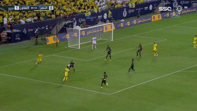 هدف النصر الاول ضد التعاون 1-1 الدوري السعودي