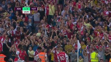 هدف ارسنال الاول ضد توتنهام 1-0 الدوري الانجليزي