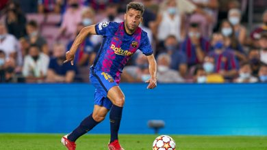 رسميا.. برشلونة يعلن اصابة جوردي ألبا عقب السقوط امام البايرن