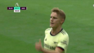 هدف اوديجارد الرائع ضد بيرنلي 1-0 الدوري الانجليزي