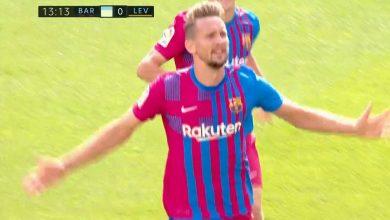 هدف برشلونة الثاني ضد ليفانتي 2-0 الدوري الاسباني