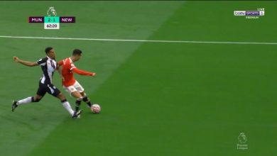 هدف كريستيانو رونالدو الثاني ضد نيوكاسل 2-1 الدوري الانجليزي