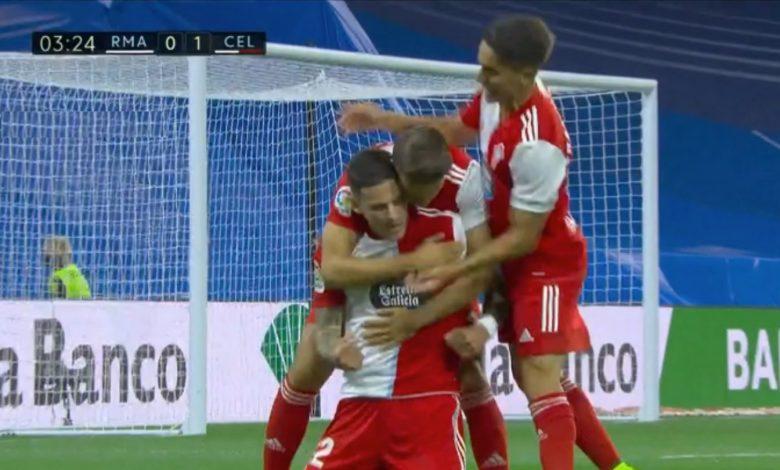 هدف سيلتا فيجو الاول ضد ريال مدريد 1-0 الدوري الاسباني