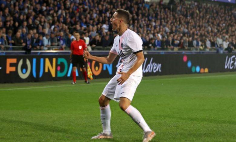 هدف باريس سان جيرمان الاول ضد كلوب بروج 1-0 دوري ابطال اوروبا