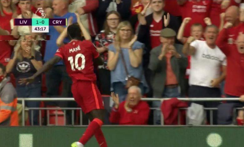 هدف ساديو ماني ضد كريستال بالاس 1-0 الدوري الانجليزي