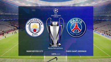 موعد مباراة باريس سان جيرمان ومانشستر سيتي في دوري ابطال اوروبا والقنوات الناقلة