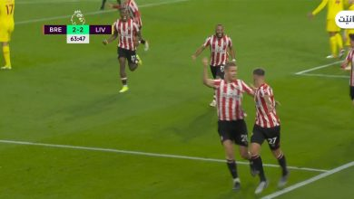 هدف برينتفورد الثاني ضد ليفربول 2-2 الدوري الانجليزي