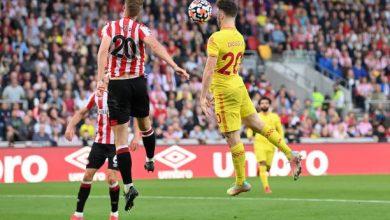 هدف ليفربول الاول ضد برينتفورد 1-1 الدوري الانجليزي