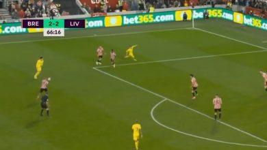 هدف ليفربول الثالث ضد برينتفورد 3-2 الدوري الانجليزي