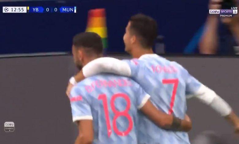 هدف كريستيانو رونالدو ضد يونج بويز 1-0 دوري ابطال اوروبا