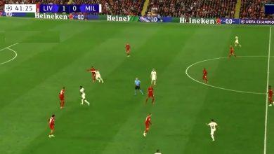 هدف ميلان الاول ضد ليفربول 1-1 دوري ابطال اوروبا