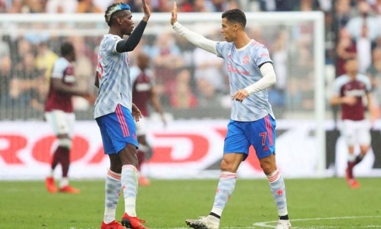 هدف كريستيانو رونالدو ضد وست هام 1-1 الدوري الانجليزي