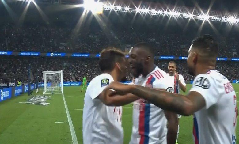 هدف اولمبيك ليون الاول ضد باريس سان جيرمان 1-0 الدوري الفرنسي