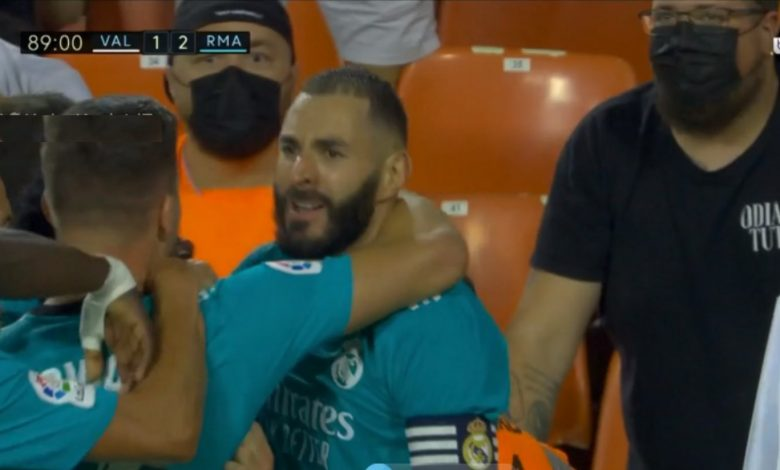 هدف ريال مدريد الثاني ضد فالنسيا 2-1 الدوري الاسباني
