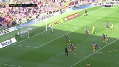 هدف برشلونة الاول ضد ليفانتي 1-0 الدوري الاسباني