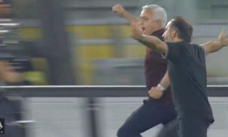 هدف روما القاتل ضد ساسولو واحتفال جوزيه مورينيو