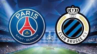 موعد مباراة باريس سان جيرمان وكلوب بروج في دوري ابطال اوروبا والقنوات الناقلة