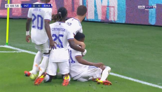 اهداف مباراة ريال مدريد ضد انتر ميلان 1-0 دوري ابطال اوروبا