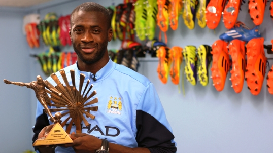 yaya bbc - BBC تختار يايا توريه أفضل لاعب أفريقي لعام 2013